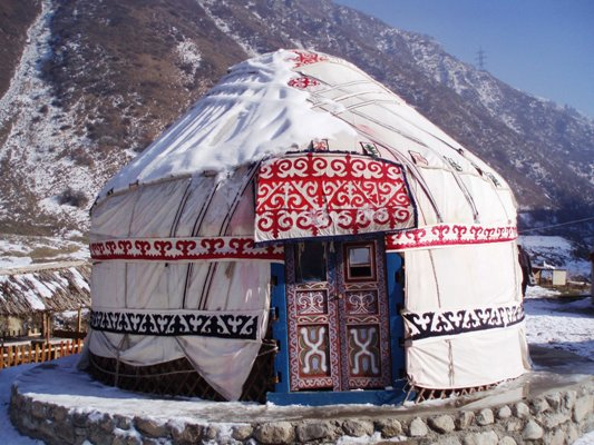 Yurt, a traditional Kazakhstan dwelling
