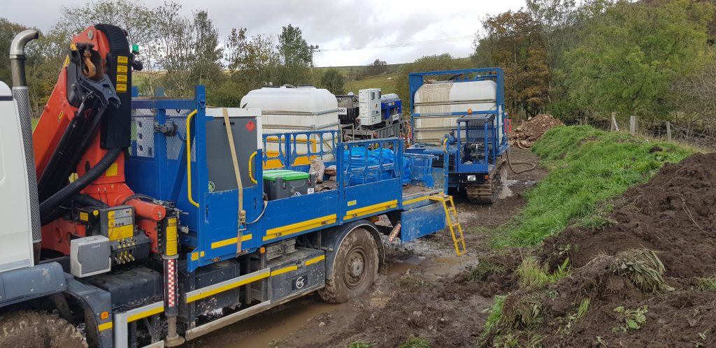 HDD gas pipeline under a river