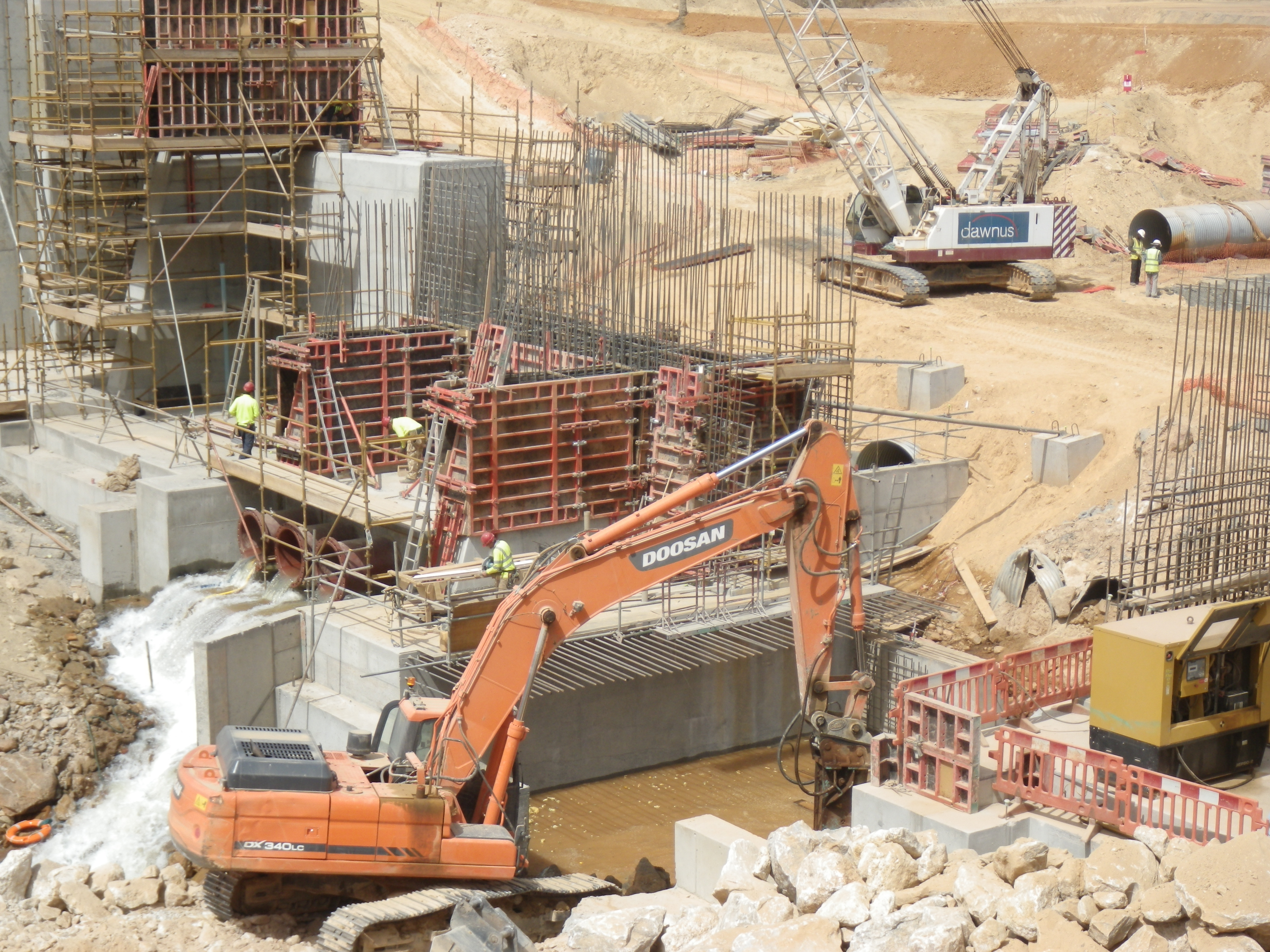 Raw water dam construction