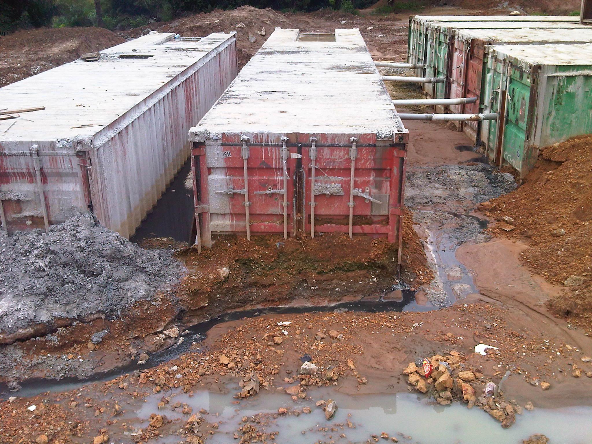 Failure of a 'home made' sewage treatment facility