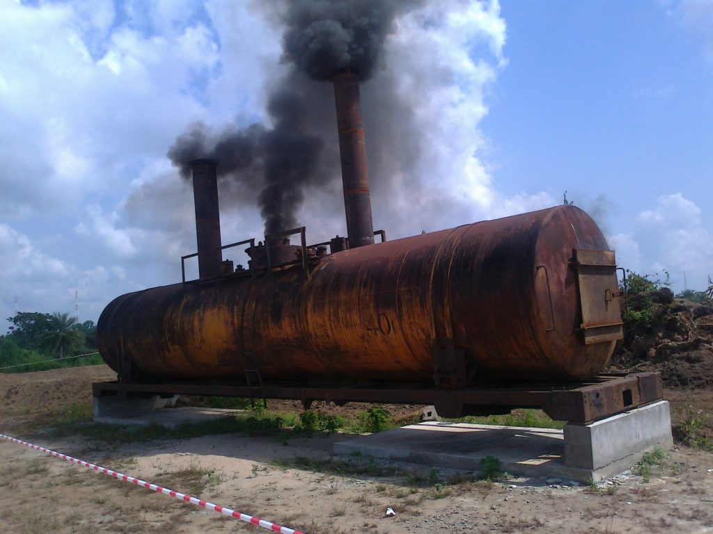 Failed attempt at fabrication of an incinerator