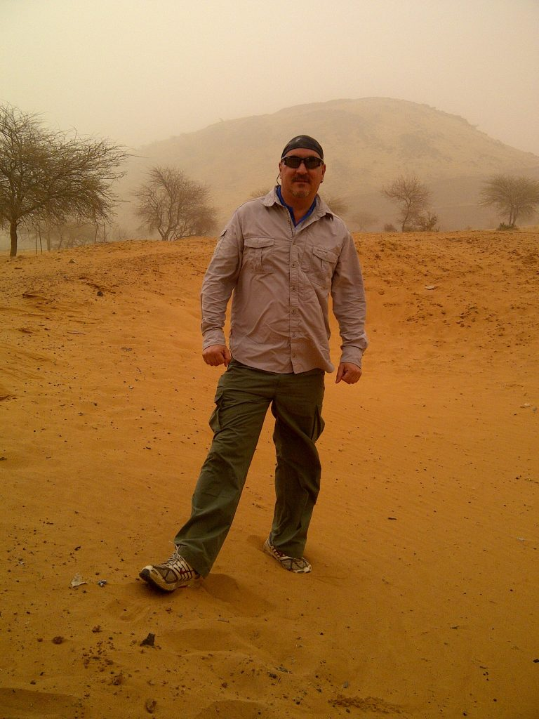 Andy in the Sahel mine site