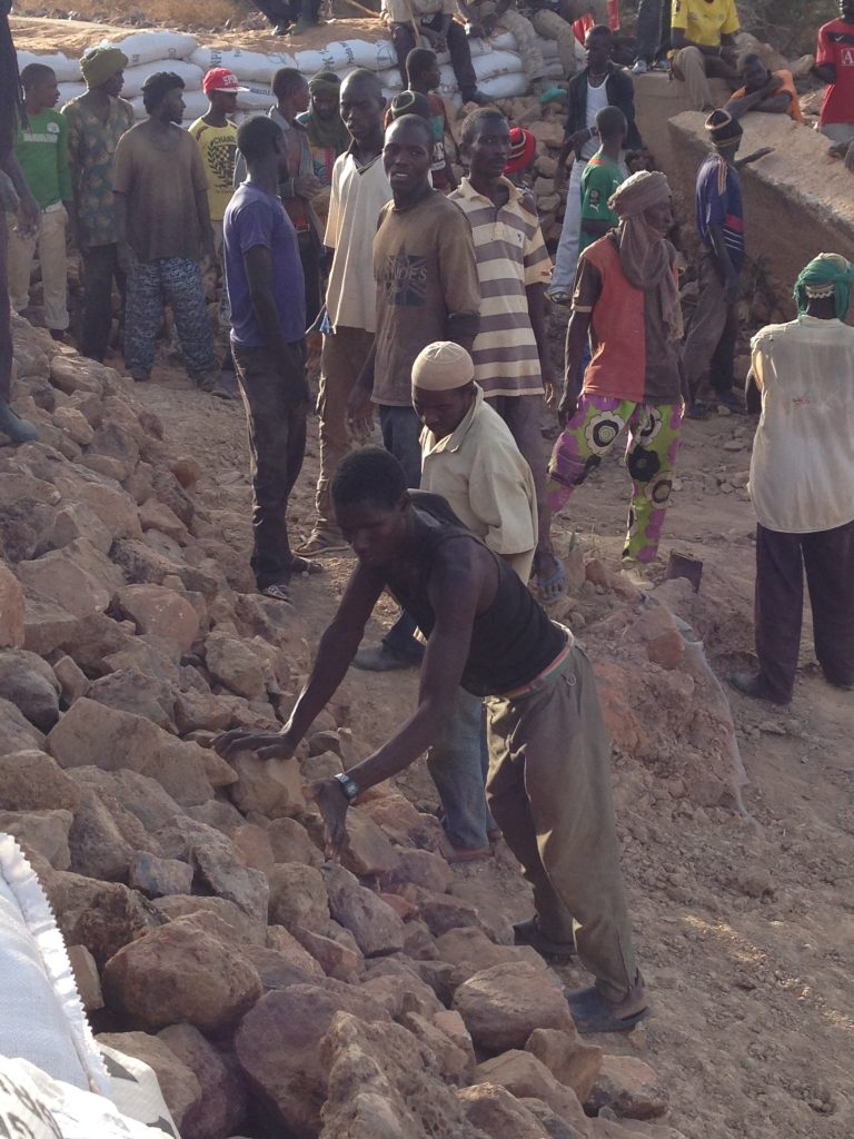 I had the whole village working to build the dam, maximising employment in Burkina Faso