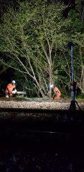 rail cut night