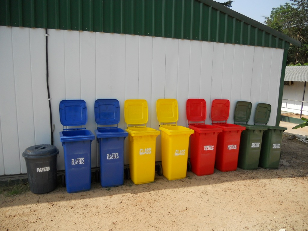 Colour coded waste disposal