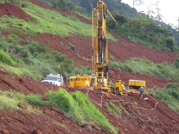 Drill rig during exploration