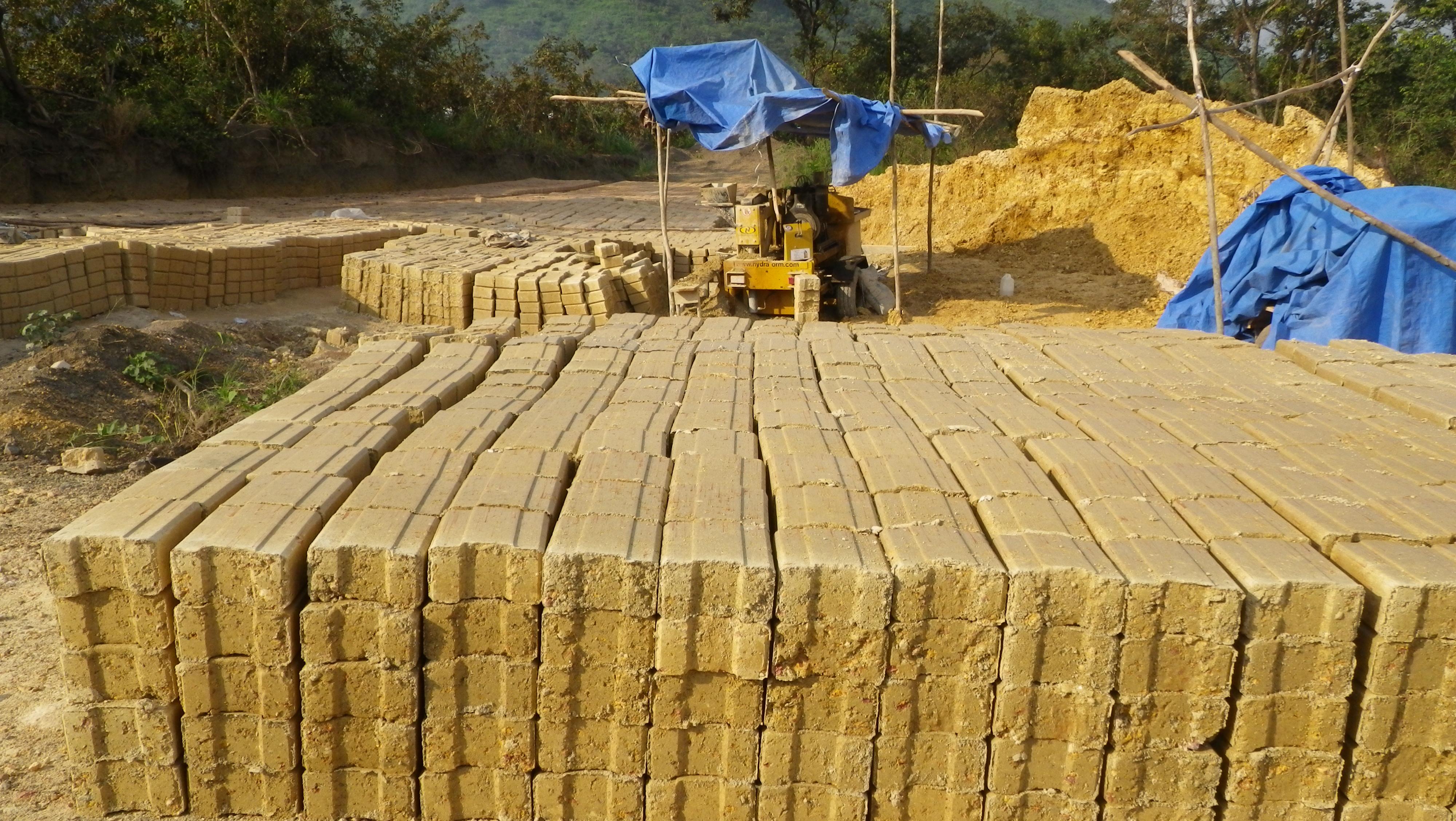 Bricks for resettlement housing
